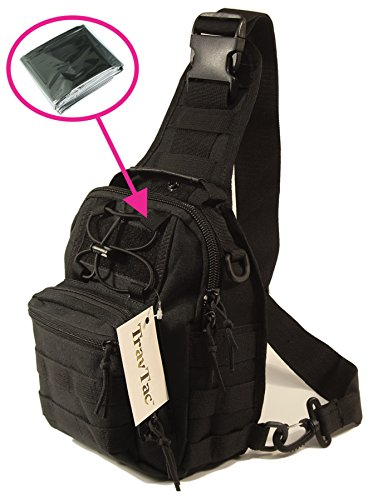 Small Tactical MOLLE Sling Pack – Compact and Versatile – Includes  Emergency Blanket – Shoulder Pack 07c263f04